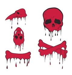 Bones set vector