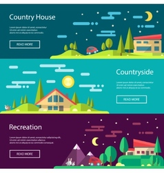 Modern flat design conceptual landscape with build vector