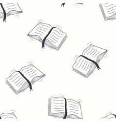 Sketched open book seamless pattern vector