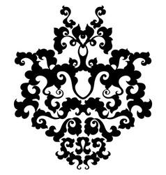 Ornamental damask element vector