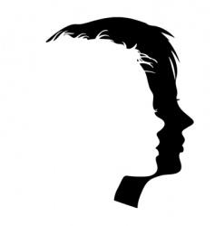 Faces profiles vector