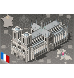 Isometric infographic notre dame de paris - hd vector