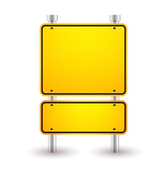 Blank yellow sign vector
