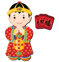 Chinese cartoons vector