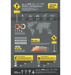 Infographic traffic set vector