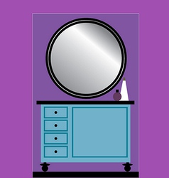Toilet table with mirror vector