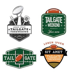 Set of american football tailgate design elements vector