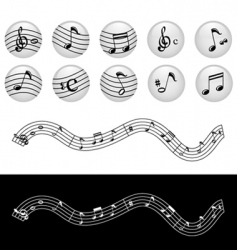 Music notes vector