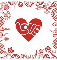 Valentines day card heart love vector