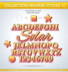 Solar graphic styles for design use for decor text vector