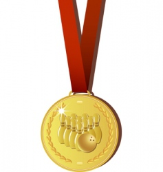 Bowling medal vector