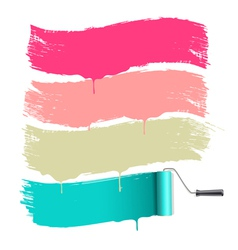 Roller brushes painting vector