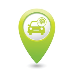Car with air conditioner icon pointer green vector
