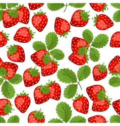 Seamless nature pattern with strawberries vector