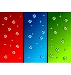 Water drops color variations vector