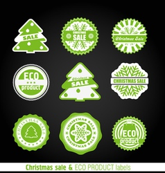Winter labels set vector