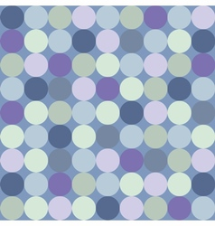 Seamless pattern or background with big blue dots vector