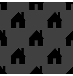 Home web icon flat design seamless pattern vector