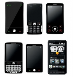 Mobile phones set vector