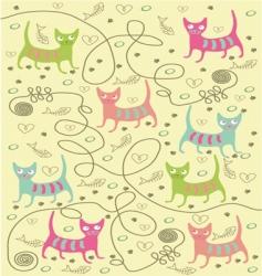 Bright cats vector