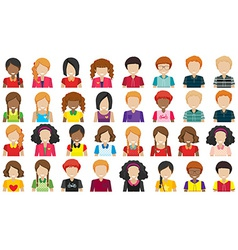 Group of people without faces vector