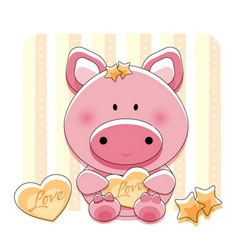 Pig love vector