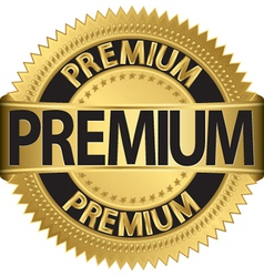 Premium gold label vector