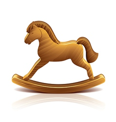 Object wooden rocking horse vector
