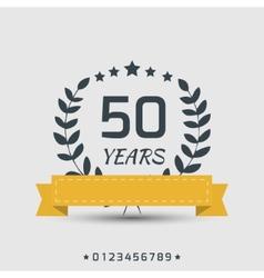 Anniversary sign vector