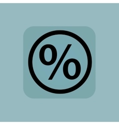 Pale blue percent sign vector