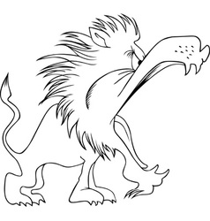 Hungry lion vector