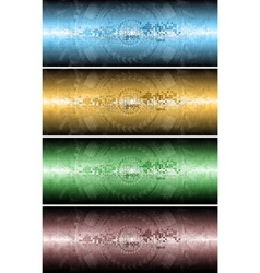 Four technical banners vector