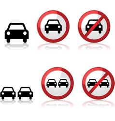 Car signs vector