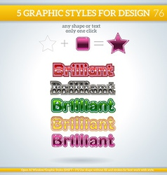 Set of brilliant graphic styles for design vector