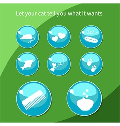 Cat buttons vector