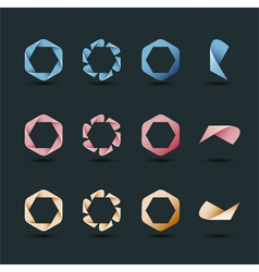 Contemporary logo collection vector