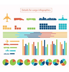 Details for cargo infographic vector