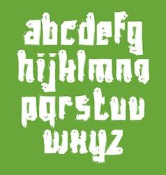 Alphabet letters set hand-drawn white script vector