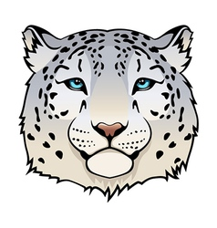 Snow leopard vector