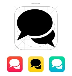 Talk bubble icon vector