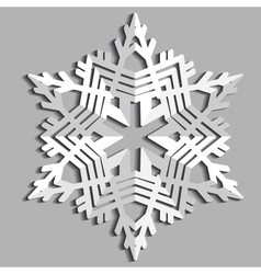 Decorative abstract snowflake vector