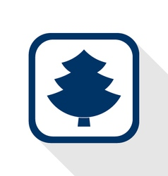 Tree flat icon vector