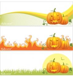Halloween pumpkin banner vector