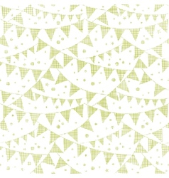 Green textile party bunting seamless pattern vector