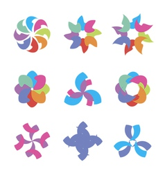 Colorful abstract icons vector