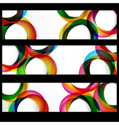 Abstract circles banner vector