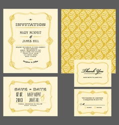 Set classic invitation vector