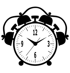 Old mechanical alarm clock vector