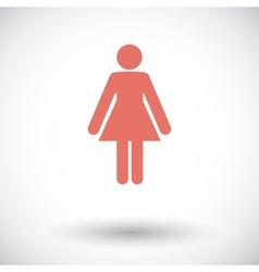 Female gender sign vector