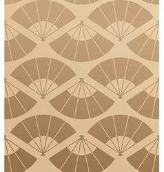 Elegant japan fan seamless pattern vector
